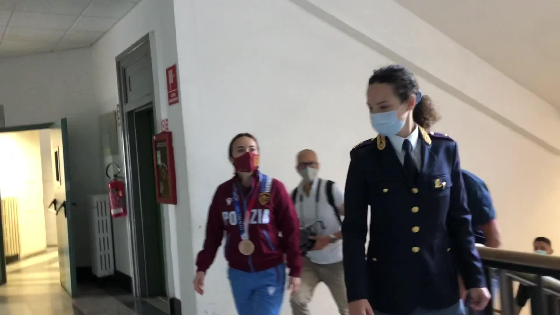 Tokyo 2020, la Questura ringrazia Viviana Bottaro, bronzo genovese per le Fiamme oro