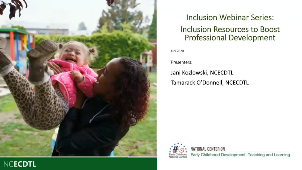 Inclusion Resources to Boost Professional Development