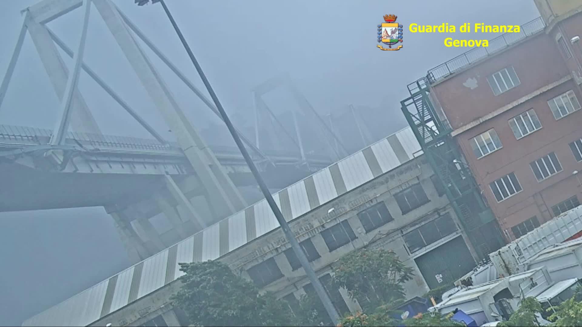 Inedito: il video della Ferrometal mostra il crollo di Ponte Morandi
