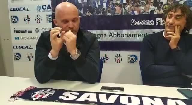 Savona Fbc, la presentazione dell'allenatore Luciano De Paola