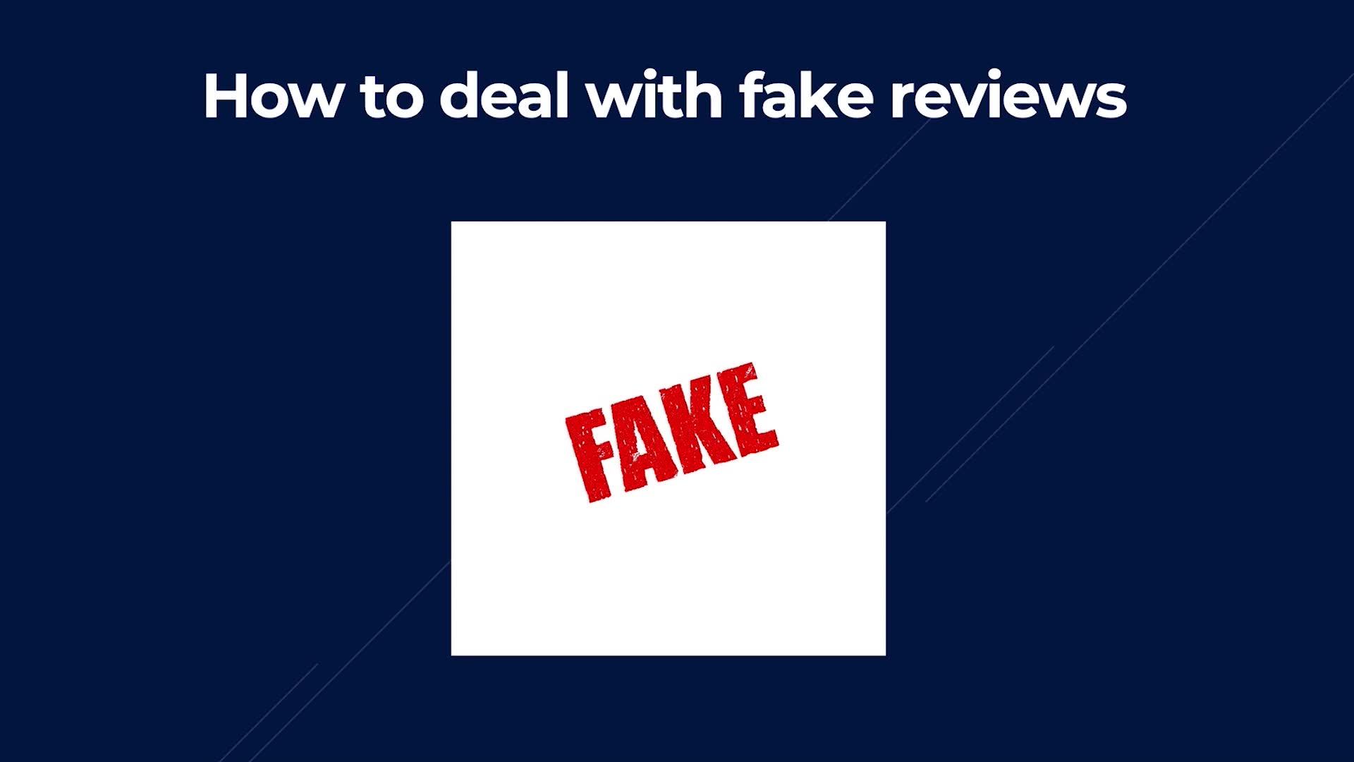 How To Deal With Fake Reviews