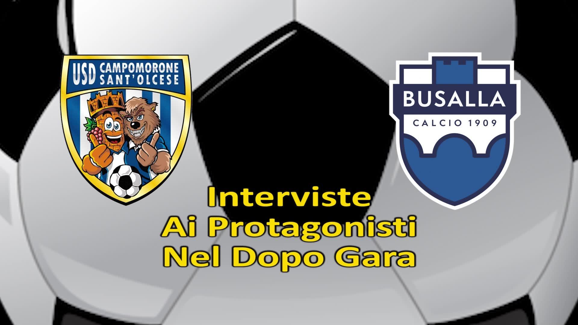 Campomorone-Busalla: le parole di mister Gianfranco Cannistrà