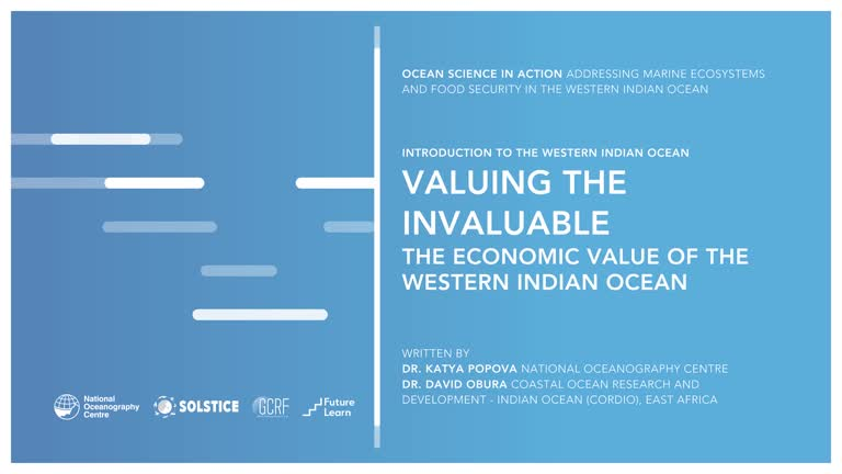 Valuing The Invaluable: The Economic Value Of The Western Indian Ocean