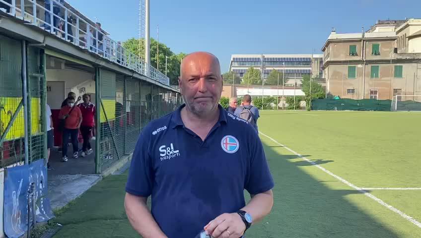 Luca Monteforte parla al termine di Ligorna-Genova Calcio