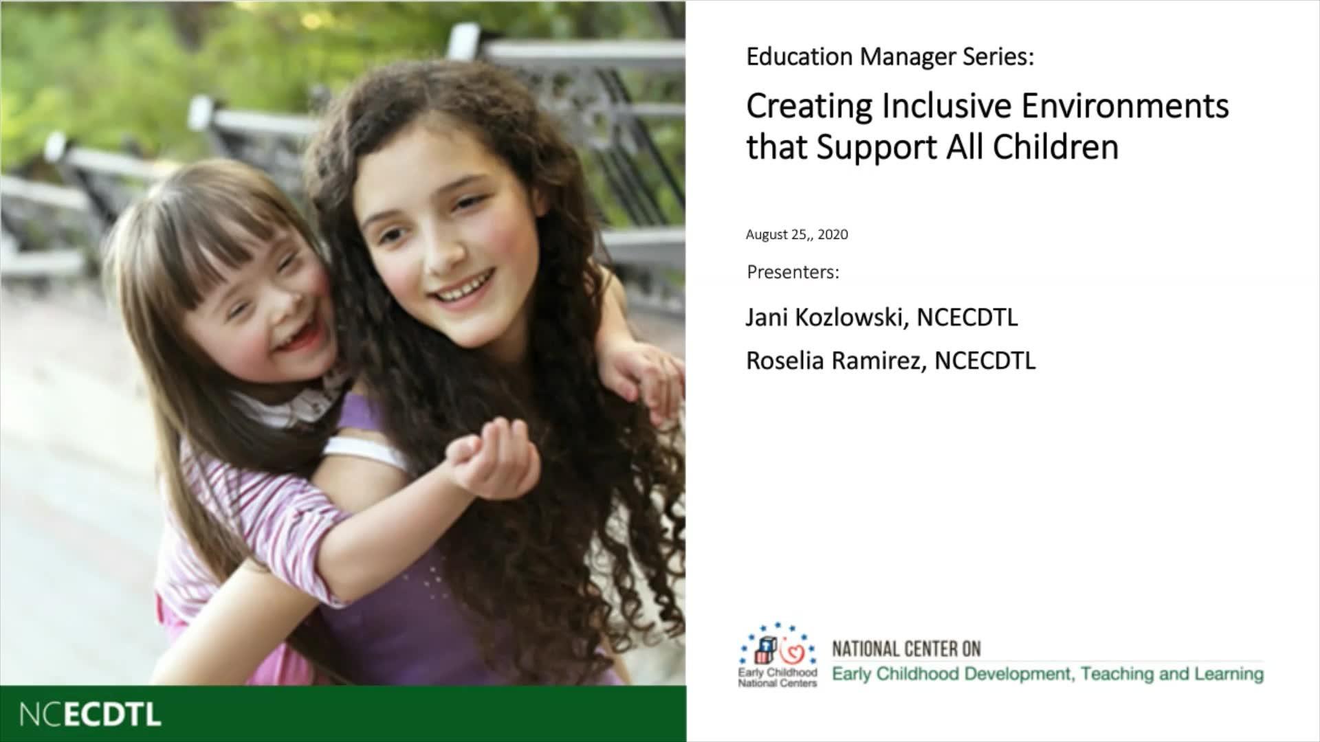 Creación de entornos inclusivos que apoyen a todos los niños