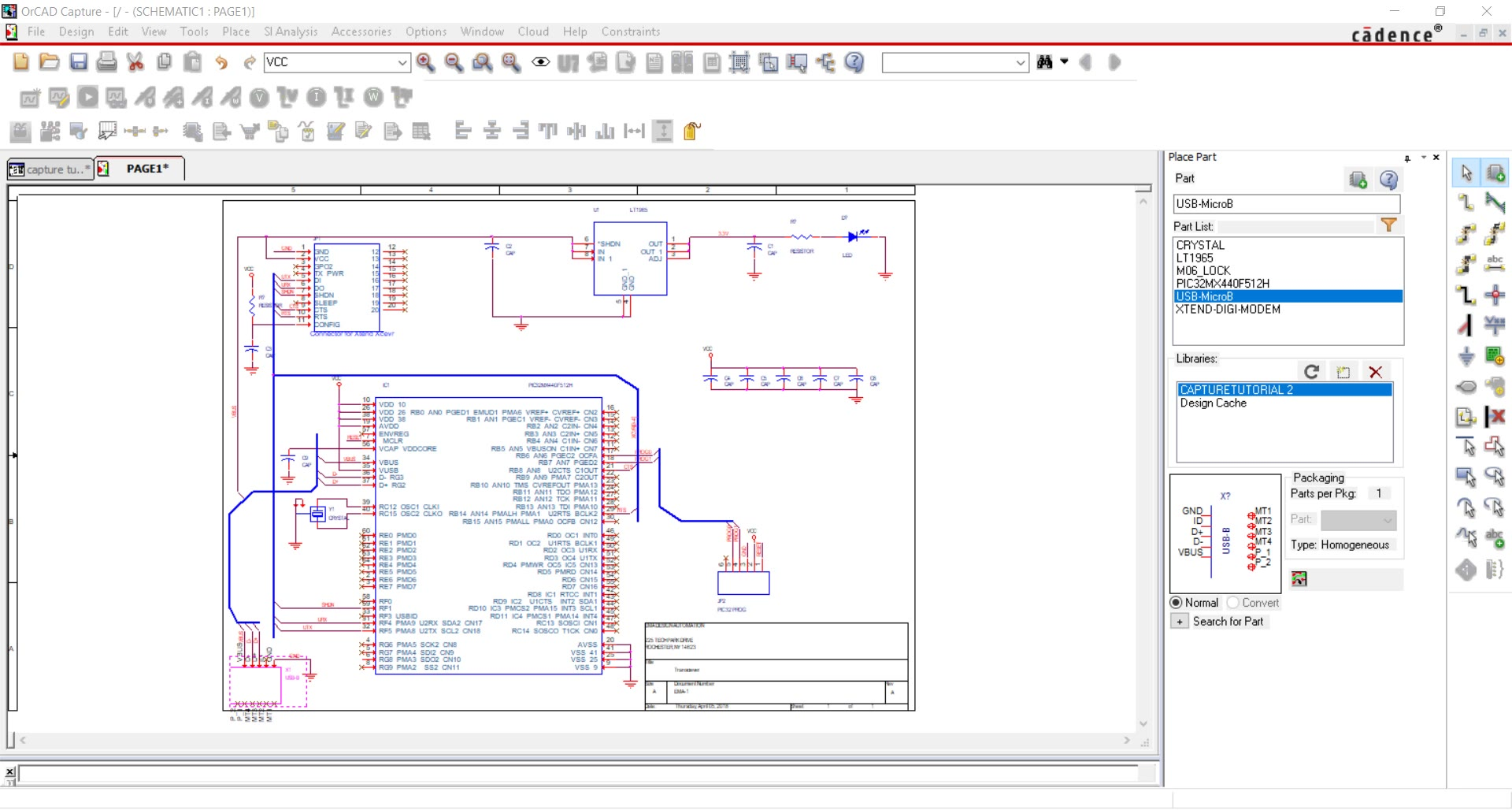 Start Your First Schematic Design In Orcad Capture Click Here For A Pdf Version Of Theschematic 6 Define Differential Pairs