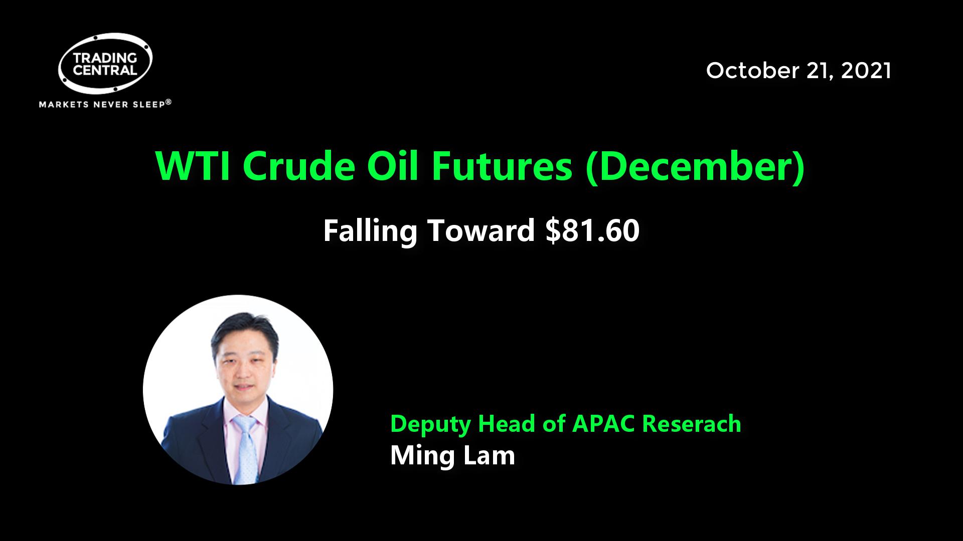 WTI Crude Oil Futures (December) - Falling Toward $81.60