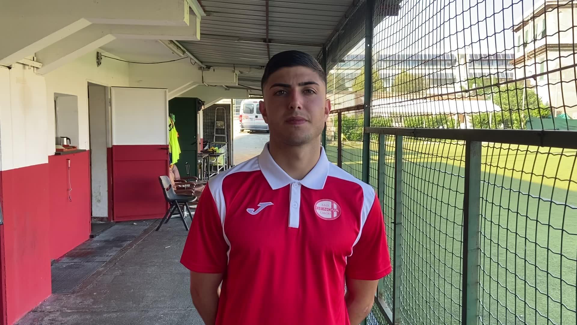 """Genova Calcio, Leonardo Serinelli: """"È stata una partita intensa, con questo caldo abbiamo fatto fatica"""""""