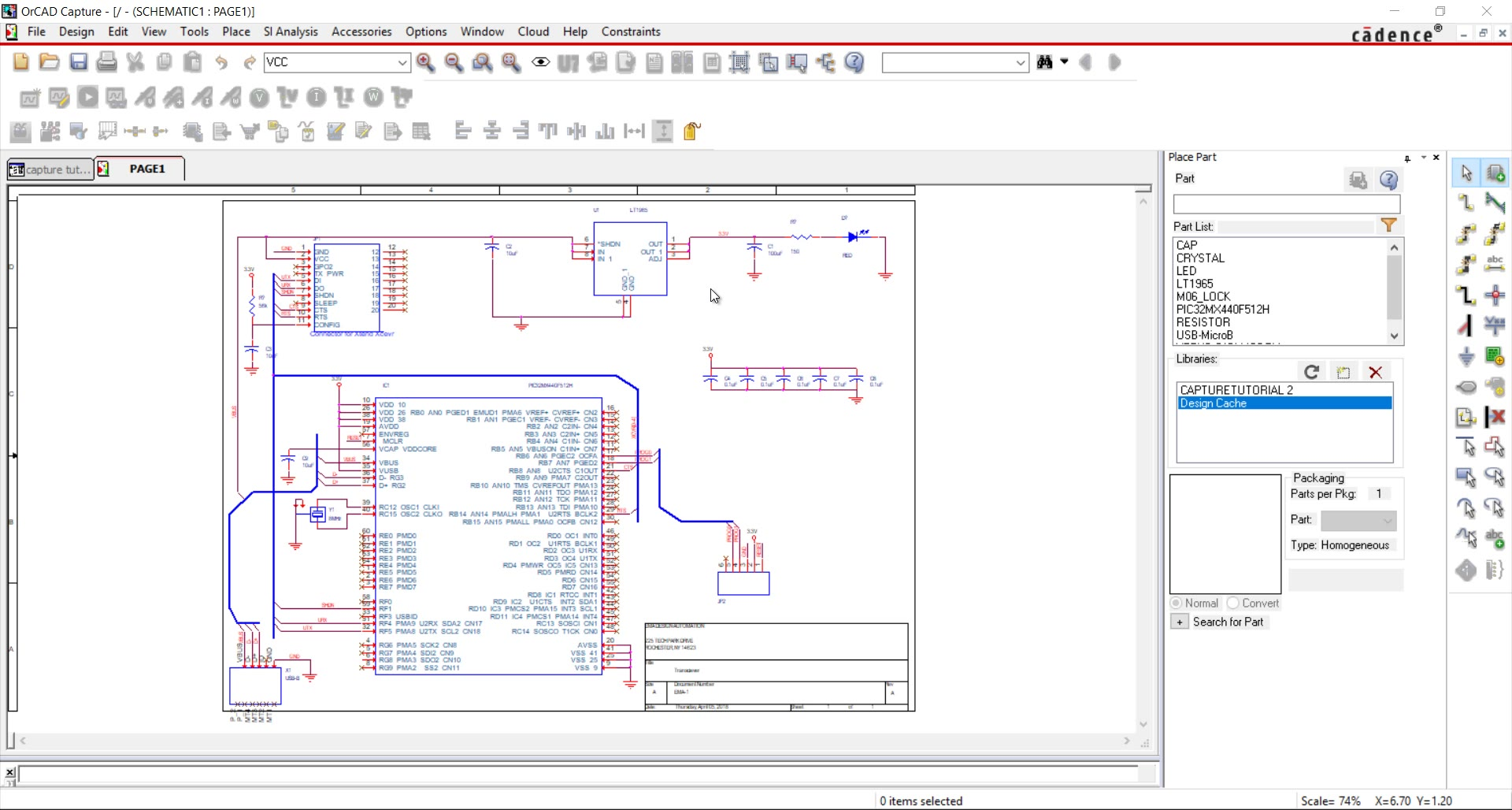 Start Your First Schematic Design In Orcad Capture Sample Diagram How To Read Interpret Wiring Diagrams Pdf By Watch Video