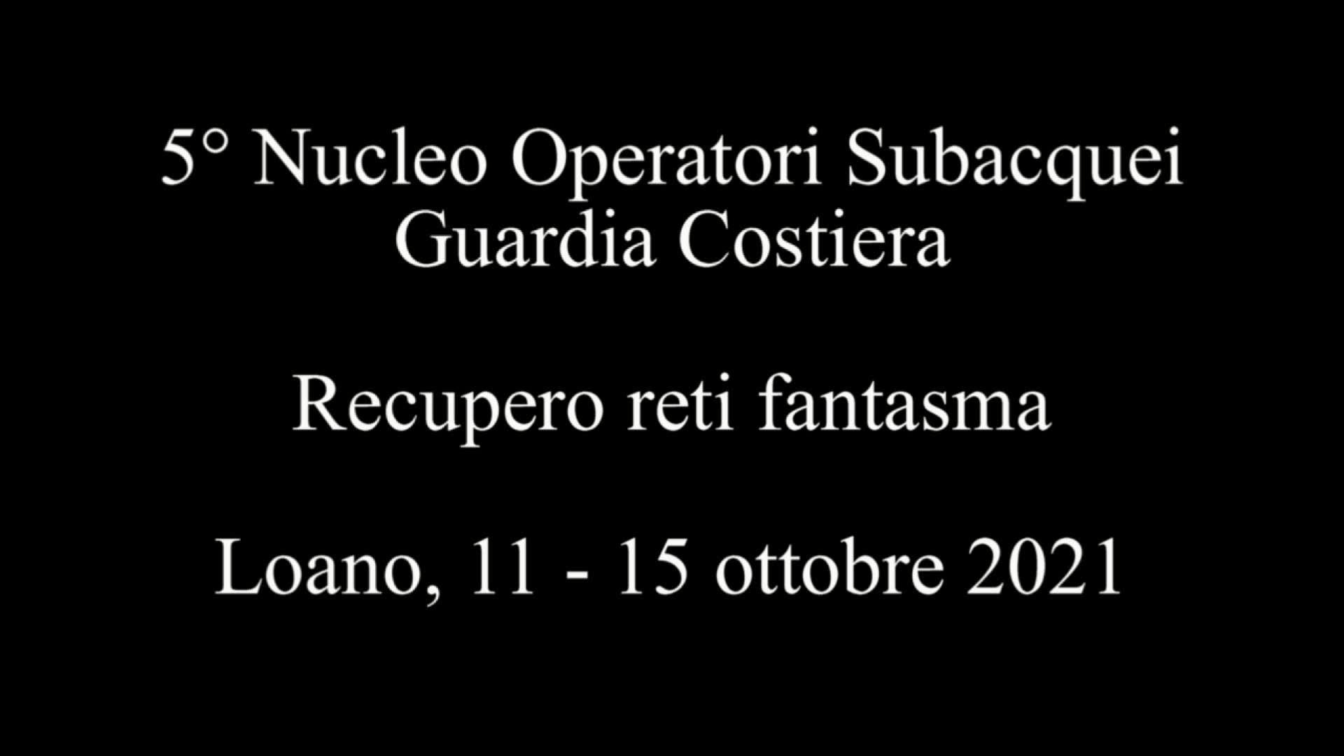 Reti Fantasma 2021, i dettagli dell'operazione della Guardia Costiera