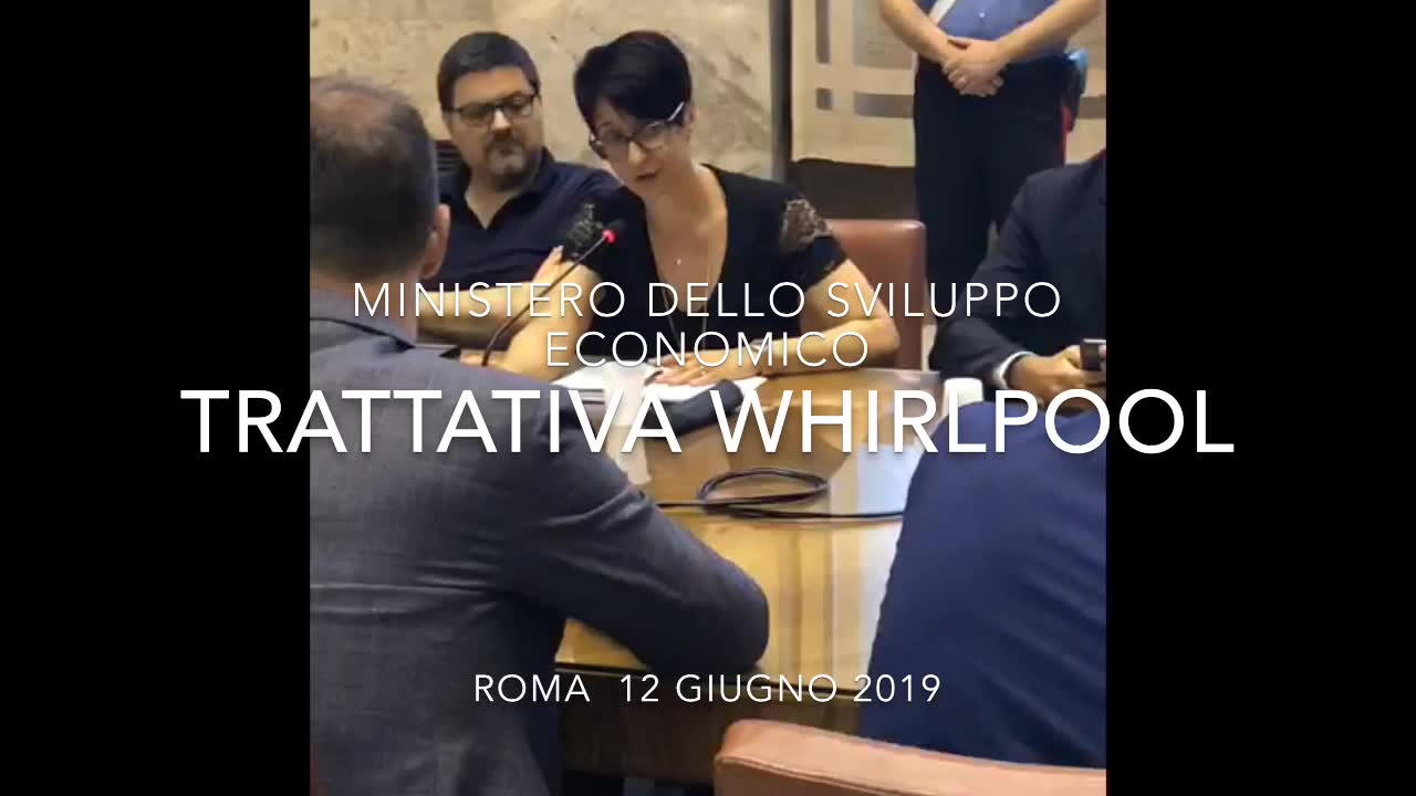 Video: La trattativa Whirlpool al Mise