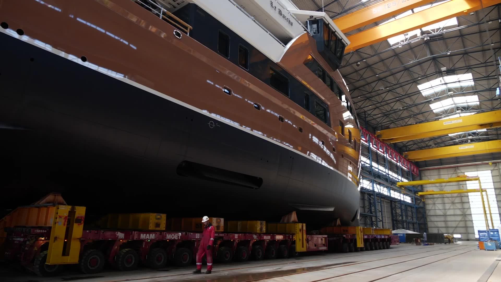 Damen Yachting Launches 77m SeaXplorer La Datcha