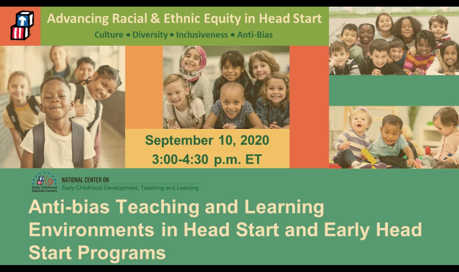Entornos de enseñanza y aprendizaje contra el sesgo en los programas Head Start y Early Head Start