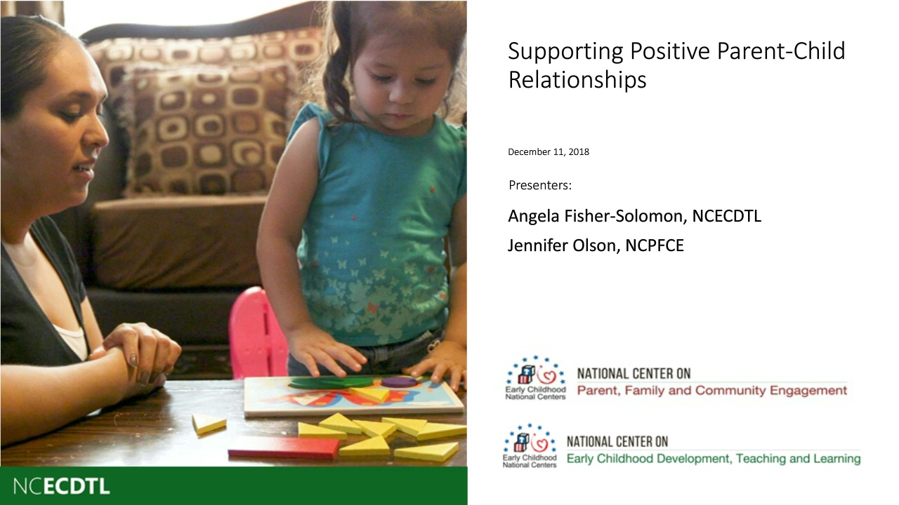 Supporting Positive Parent-Child Relationships