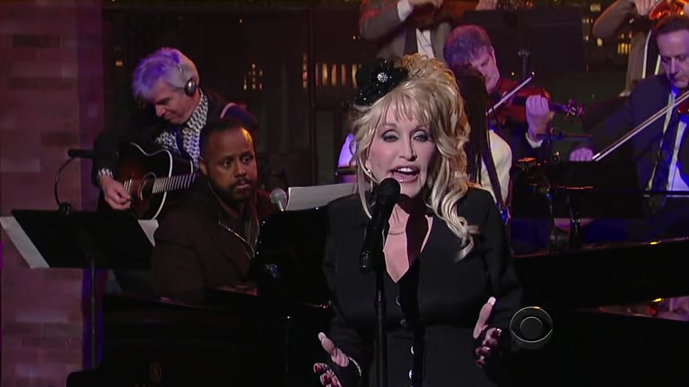 Merv with Dolly Parton on Letterman