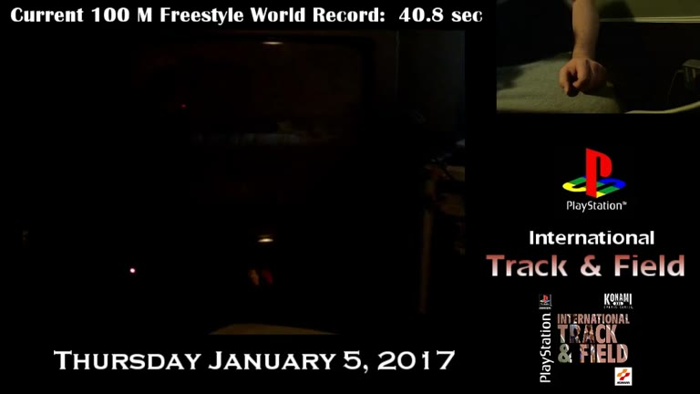 PlayStation - International Track and Field - NTSC - 100-Meter Freestyle [Fastest Completion] - 40.47 - Derek Ruble