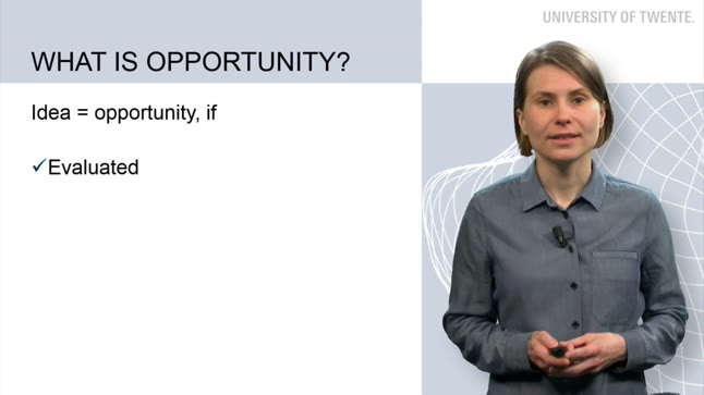 What is opportunity recognition
