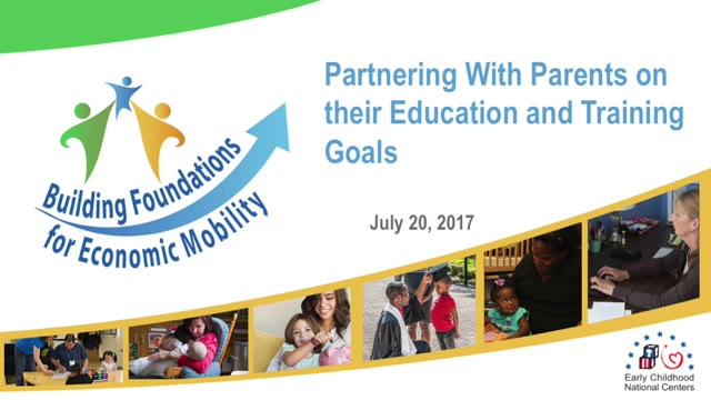 Partnering with Parents on their Education and Training Goals