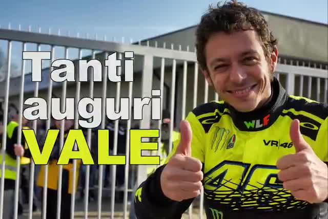 Video: Tanti auguri Valentino Rossi