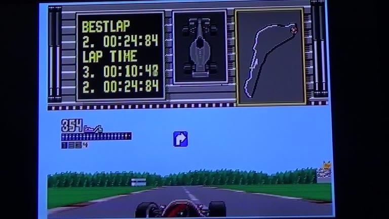 Sega Genesis / Sega Mega Drive - Ferrari Grand Prix Challenge - NTSC - Italian GP - Fastest Lap - 24.48 - Terence O'Neill