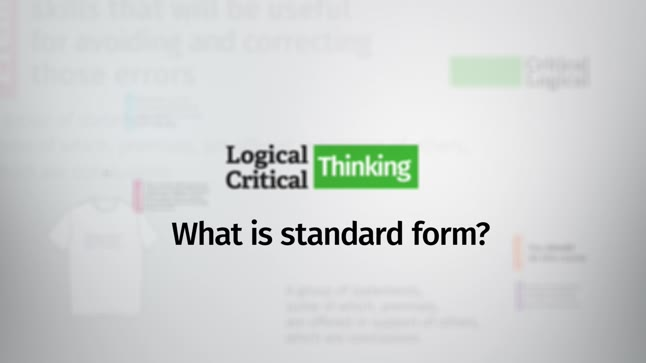 What Is The Standard Form Of An Argument Logical And Critical