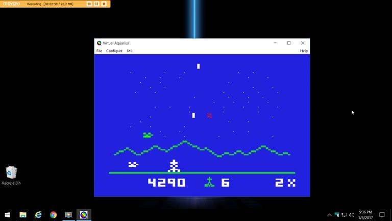 Mattel Aquarius - Astrosmash - EMU - Default Settings - 121,520 - Terence O'Neill