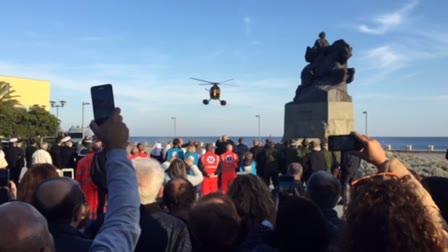 La Madonna di Fatima arriva in elicottero al Prolungamento