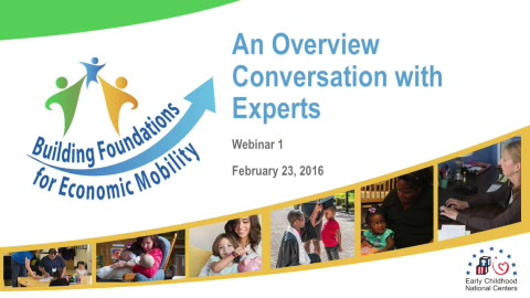 Building Foundations for Economic Mobility: An Overview Conversation with Experts