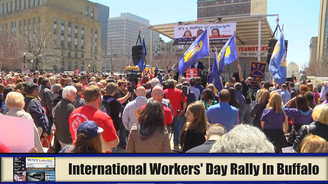 International Workers' Day Rally In Buffalo