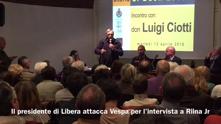 Video: Don Ciotti attacca Vespa per l'intervista a Riina jr