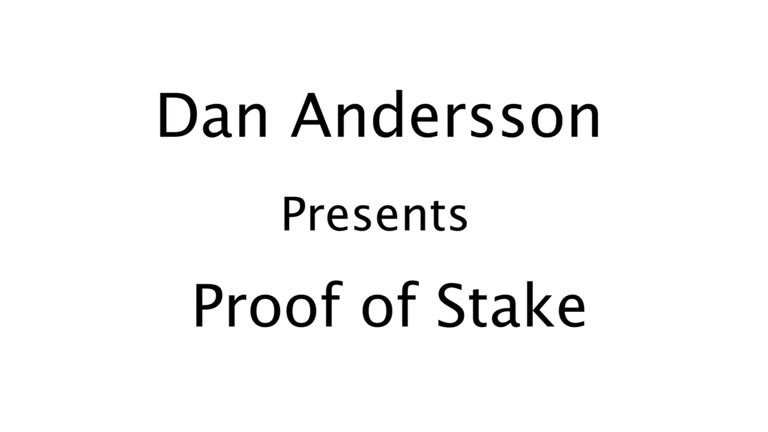 Proof of Stake (POS)