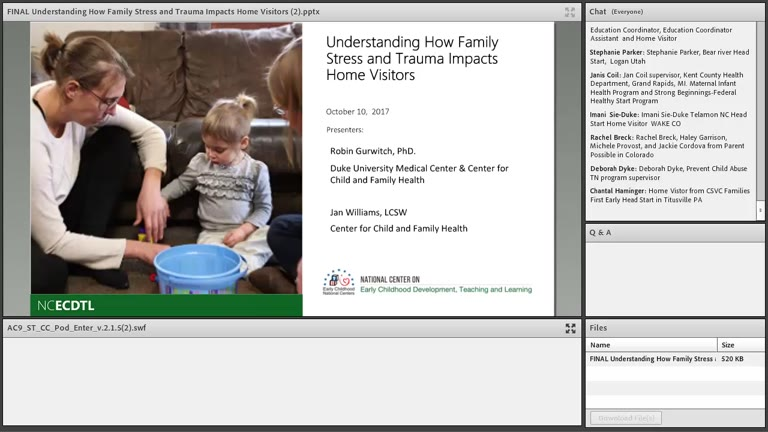 Understanding How Family Stress and Trauma Impacts Home Visitors