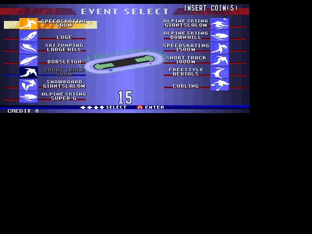 M.A.M.E. - Nagano Winter Olympics '98 [GX720 EAA] - Short Track 500M [Fastest Race] - 46.4 - Paul Ford