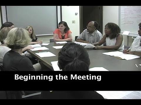 Beginning the Meeting