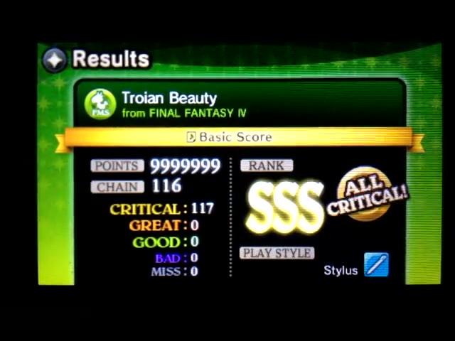 Nintendo 3DS - Theatrhythm Final Fantasy: Curtain Call - Music Stages - Final Fantasy IV - Troian Beauty - Basic Score - 9,999,999 - Rodrigo Lopes