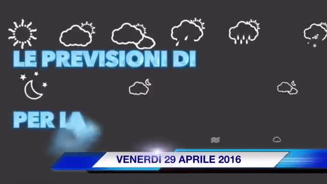 Video: Previsioni 29 aprile