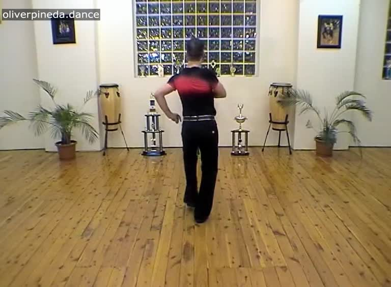 MV46 Combined movement in a salsa basic to music