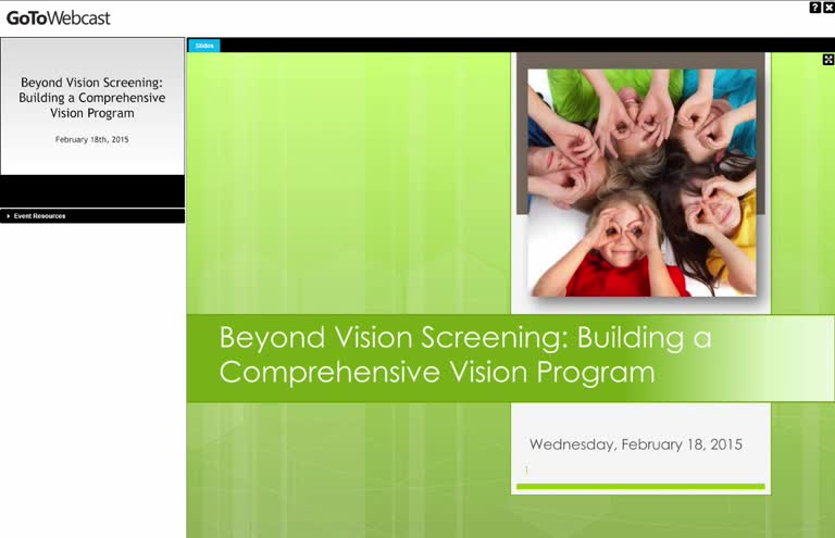 Beyond Vision Screening: Building a Comprehensive Vision Program