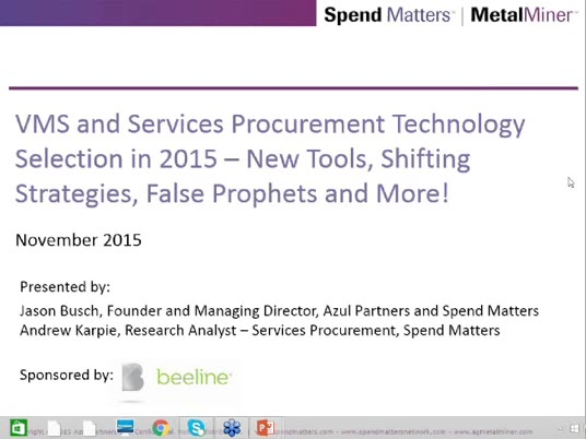 VMS and Services Procurement Technology Selection in 2015 slide image