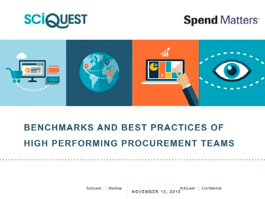 Benchmarks and Best Practices of High Performing Procurement Teams slide image