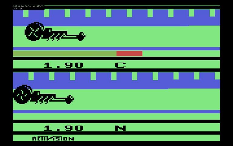 Atari 2600 / VCS - Dragster - EMU - Game 1, Difficulty B [Fastest Time] - - 05.67 - Rodrigo Lopes
