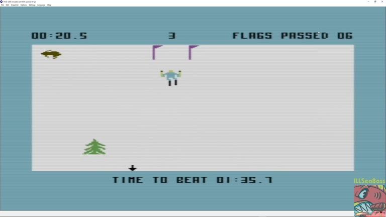 Commodore 64 - Ski Devil - EMU - Course 3 - Fastest Time - 01:01.1 - Matt Sales