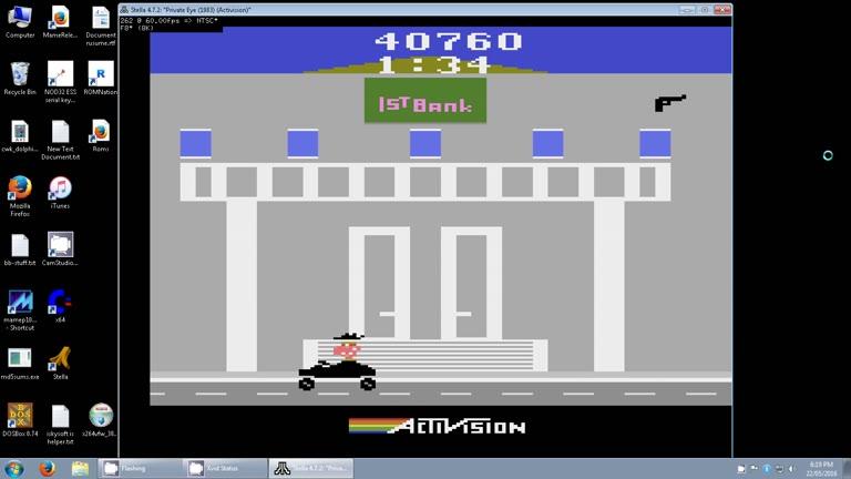 Atari 2600 / VCS - Private Eye - EMU - Game 1 - Points - - 101,800 - Clay Karczewski