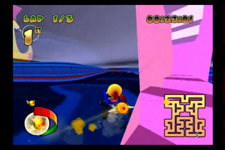 PlayStation 2 - Pac-Man World Rally - NTSC - Time Trial Mode - Classic Cup - Retro Maze [Fastest Race] - 02:45.85 - Fred Bugmann