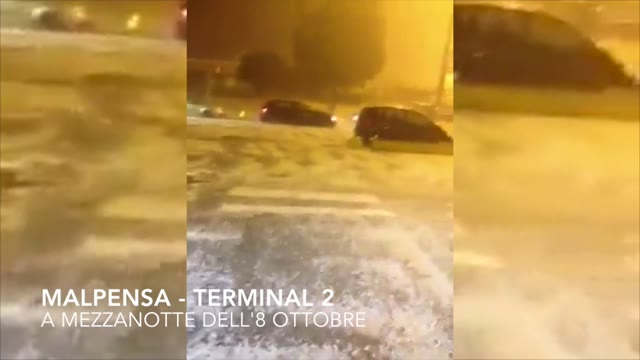 Video: Malpensa, allagato il terminal 2