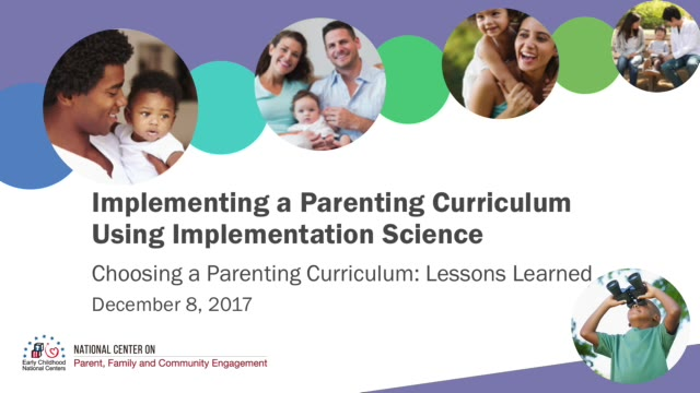 Choosing a Parenting Curriculum: Lessons Learned