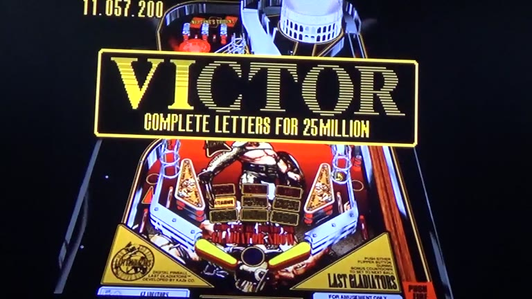 Sega Saturn - Digital Pinball / Last Gladiators Digital Pinball - NTSC - Gladiators - 3,067,933,300 - Terence O'Neill