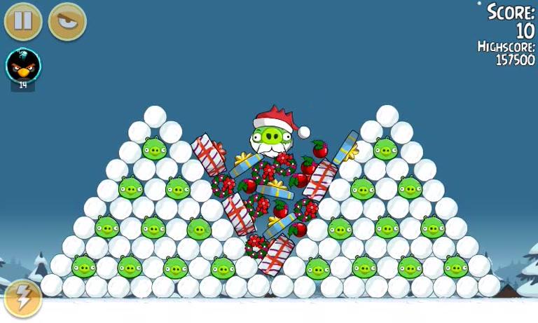 Android - Angry Birds Seasons - Season's Greedings - 1-25 - 167,760 - Andrew Mee