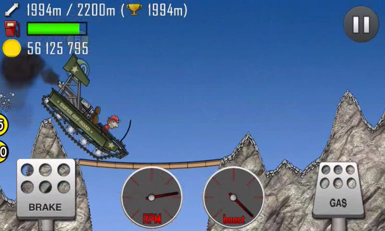 Android - Hill Climb Racing - Super Offroad - Volcano [Distance] - 2,387 - Andrew Mee