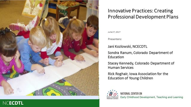 Innovative Practices: Creating Professional Development Plans